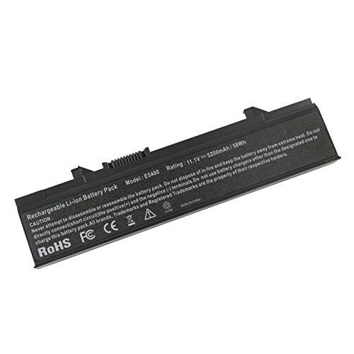 ASUNCELL 5200mAh 6 Cells Laptop Battery for Dell Latitude E5400 E5500 E5400N E5410 E5500N E5510 KM668 KM742 KM752 KM760 KM970 MT186 MT332 RM649 RM656 RM661 RM668 PW640 PW649 PW651 WU841 WU843 WU852