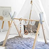Wooden Living Bedroom Decor Foldable Baby Play Activity Gym 3pcs Wooden Baby Toys