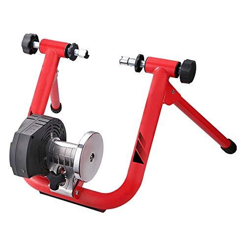 AndyJerzy Rodillo Magnético Resistencia Resistencia Inteligente de energía electromagnética Interior autoajustable Bicicletas Trainer para el Entrenador de Interior (Color : Red, Size : 73.5x76x42cm)