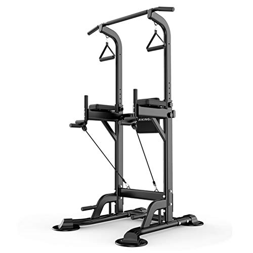 Ababy Römischer Stuhl Trainingsgeräte Dip Station Pull Up Bar Krafttraining Multifunktion Push Up Workout Fitness Stand Für Das Heim-Fitnessstudioblack