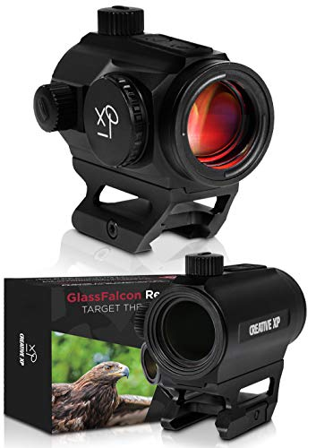 CREATIVE XP HD Red Dot Sight 3 MOA – Tactical Reflex Sight for Day & Night Time – Easy to Zero on a Rifle - Picatinny Rail Mount, Lifetime Battery Replacement - GlassFalcon