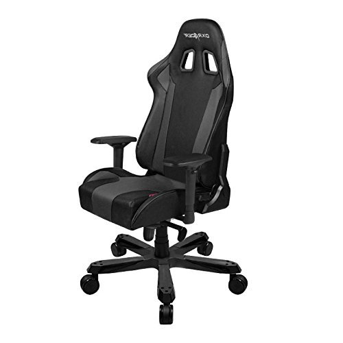 DXRacer King series OH/KS06/N Large size Seat Office Chair Gaming Ergonomic with - Included Head and Lumbar Support Pillows (Black)