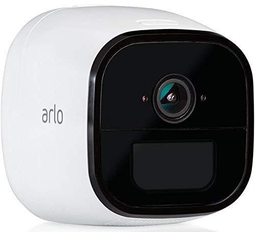Arlo Go Überwachungskamera, kabellos, mobil, Innen/Außen, HD, 3G/4G-LTE, wetterfest, Nachtsicht, 2-Wege-Audio, Bewegungsmelder, wiederaufladbarer Akku, kostenloser Cloud-Speicher) weiß, VML4030