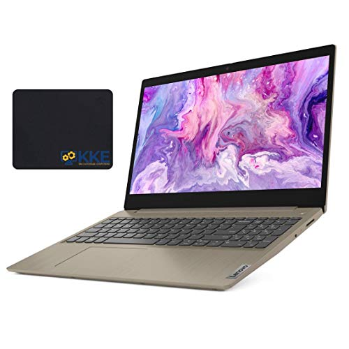 "2020 Newest Lenovo Ideapad 3 Laptop, 15.6"" HD Touchscreen, 10th Gen Intel Core i3-1005G1 Processor, 20GB RAM, 1TB SSD, Webcam, Wi-Fi, Online Class, Zoom Meeting, Windows 10 Home, KKE Bundle, Almond"