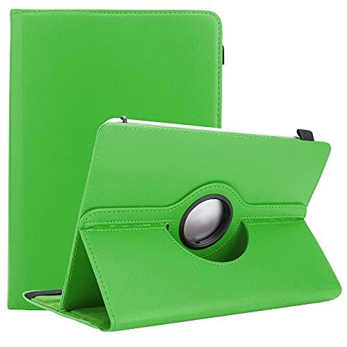 Cadorabo Tablet Hülle kompatibel mit Asus Zenpad 10 (10.1 Zoll) (Z301MFL) in HELL GRÜN - Schutzhülle aus Kunstleder mit Standfunktion - 360 Grad Hülle mit Gummiband