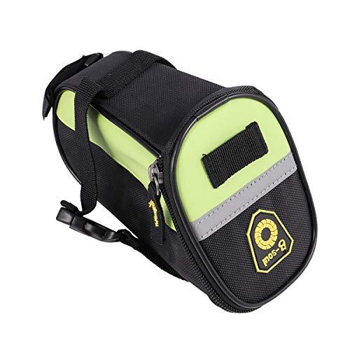 Abaodam 1 pieza de asiento trasero de bicicleta bolsa de almacenamiento de ciclismo bolsa de almacenamiento de bicicleta accesorios para exteriores (verde)