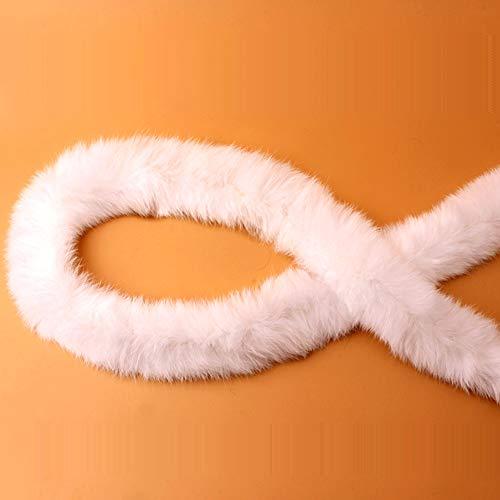 Modonghua Cinta de pelo sintético de 1 m, accesorios de piel de...