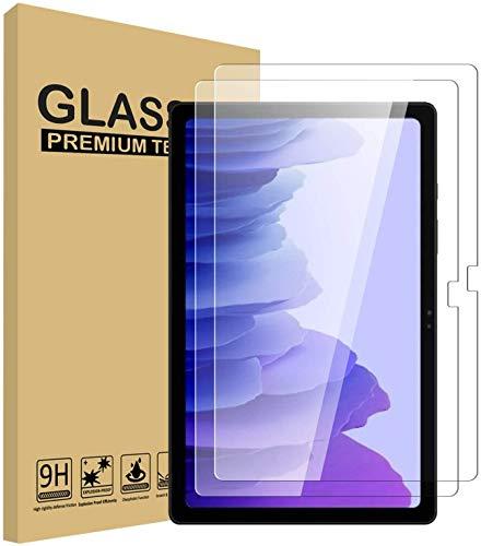 USTIYA Mica para Samsung Galaxy Tab A7 2020 T500 Screen Protector 2 Pack Transparente Vidrio Cristal Templado de Pantalla