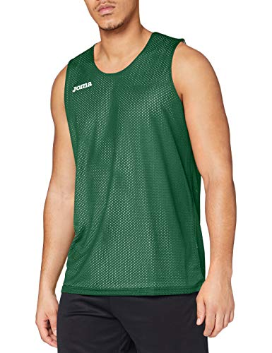 Joma Aro Basketball Reversibil Camiseta, Hombres, Verde-450, L