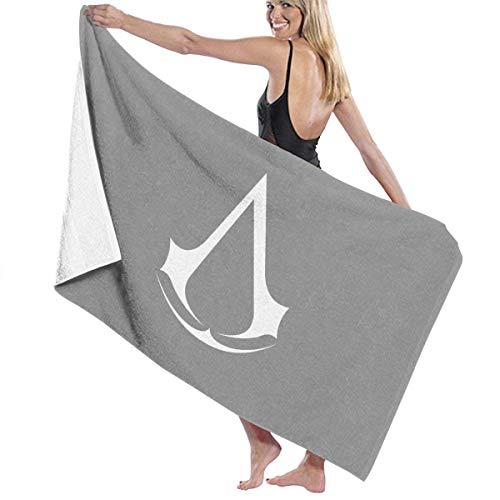 Ewtretr Toallas de baño Assassin Creed Videojuego Cama Grande y Suave Toalla de Playa Sábana Juego de baño Accesorios de baño