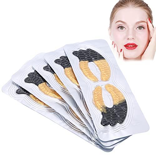 Masque pour les Yeux Pearl Caviar Black Gold, Masque pour les Yeux Raffermissant Anti-rides, Masque pour les Yeux Hydratant, Coussinets pour les Yeux Réduisant les Cernes 5pcs