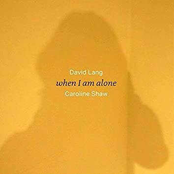 When I Am Alone (Arr. J. Elff for Solo Voice)
