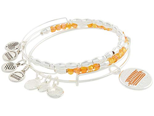 Alex and Ani Friends Set of 3 Bangle Bracelet Orange One Size