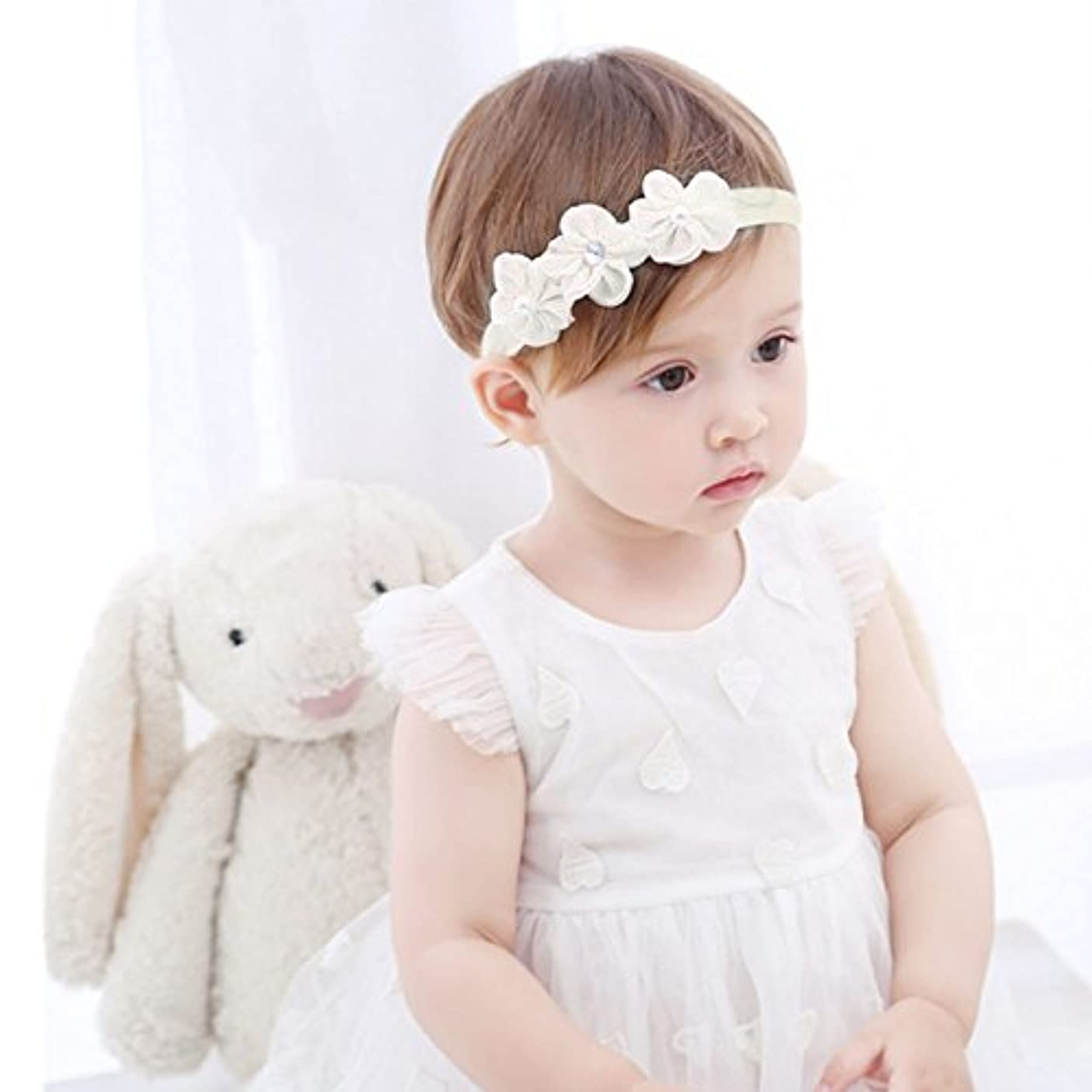 ハプニングベーカリー外部Refaxi 子供の赤ちゃんかわいい幼児のレースの花のヘアバンドヘッドウェアヘッドバンドアクセサリー
