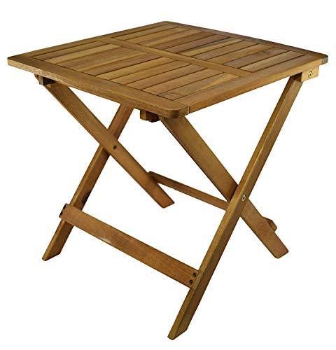 My-goodbuy24 Beistelltisch Klapptisch Holztisch Gartentisch Kaffeetisch Bistrotisch Balkontisch Serviertisch aus Akazienholz Tisch Garten 45 x 45 x 45cm braun