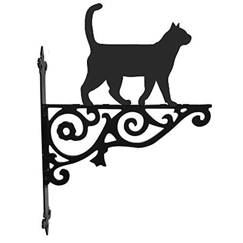 Stalen beelden kat wandelen sier opknoping beugel