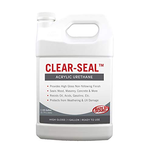 Rainguard International CU- 0101 Seal Acrylic Urethane Coating High Gloss 1 gal (Ready to Use), Clear Coat Sealant