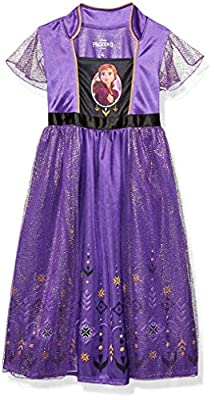 Disney Girls' Little Fantasy Nightgown, Anna - Frozen 2, 4