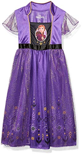 Disney Girls' Toddler Frozen 2 Fantasy Gown, Anna Royalty, 2T