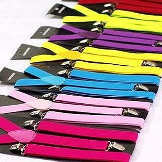 Bretelle per pantaloni di alta qualit/à disponibili in molti colori diversi con 4 clip forti