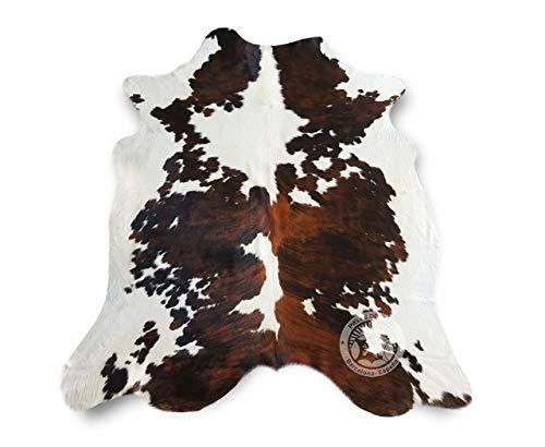 Sunshine Cowhides Alfombra DE Piel DE Vaca Tricolor TC7 – Tamaño: 220 x 200 cm 100% Natural - Marca Pieles del Sol