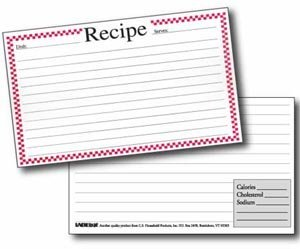 Top 10 recipe cards red 4×6 for 2020