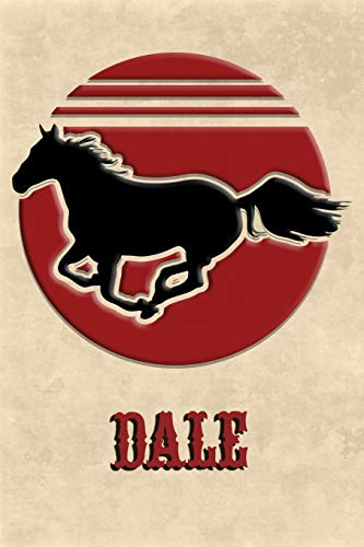 Wild Horse Lined Notebook: Dale: College Ruled | Composition Book | Diary | Lined Journal