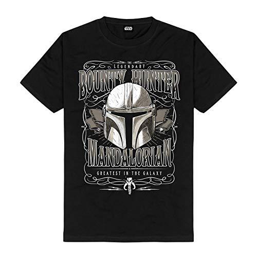 The Mandalorian Men's T-Shirt Greatest in The Galaxy Star Wars Cotton Black - XXL