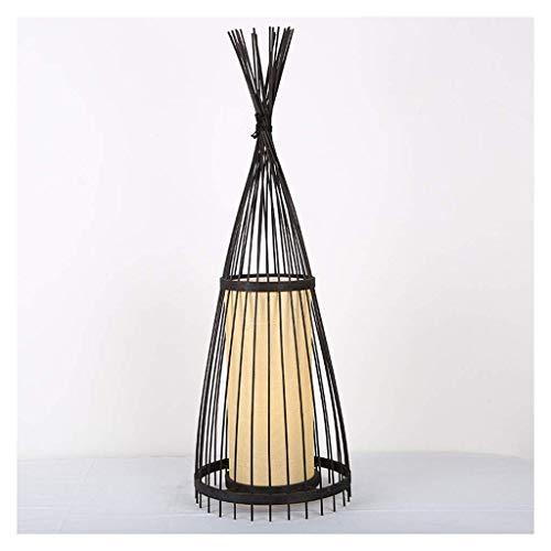 FYHH-JZHY -Luz De Pie Lámpara De Pie De Estilo Japonés Sala De Estar Led Lámpara De Decoración De Bambú Hecha A Mano Estudio Retro Creativo Lámpara De Fondo Vertical Sala De Estar (Color: 157Cm)