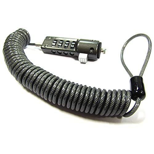 BeMatik - Notebook Computer Lock Cable Espiral (Combinación 4 dígitos)