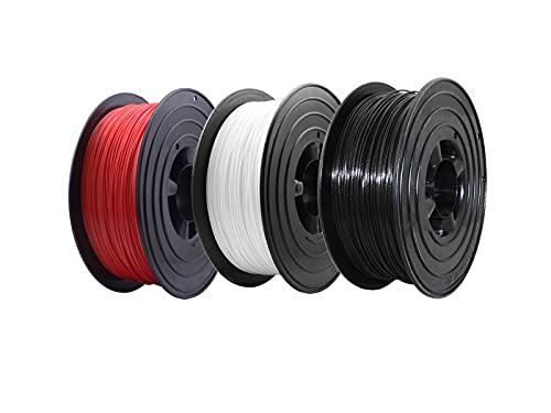 3D Drucker PLA Filament 3x 1kg 1,75mm Made in Germany ( Rot , Schwarz , Weiss)