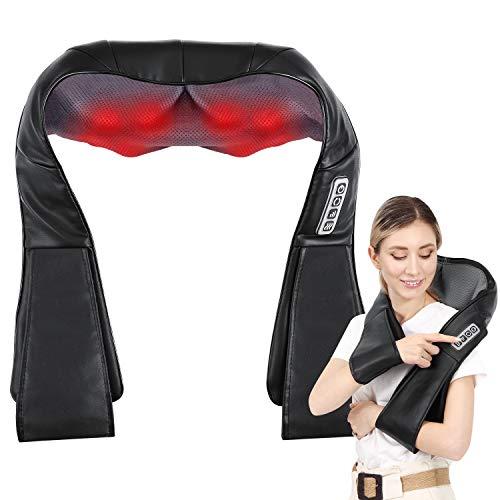 Back and Neck Massager,Neck Shoulder Massager,Electric Back Massage Deep Kneading Massage 3D Pillow...
