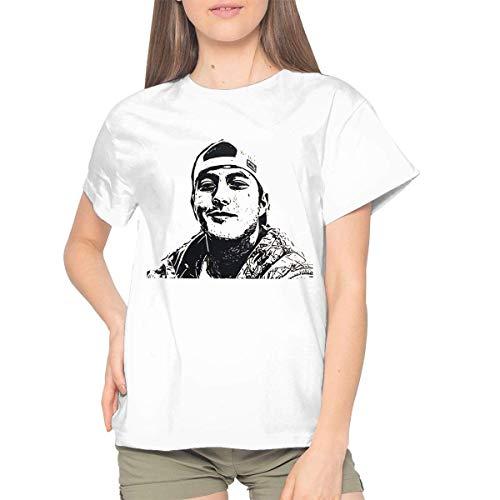 HuXiHuXiHu Kurzarmshirt, Laine Hardy Woman Casual Short Sleeve Tee White