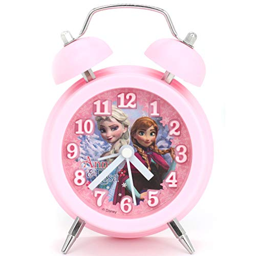 Wekker Elsa Anna Frozen Student Cartoon Nachtkastklok Meisjesslaapkamer Dubbele bel
