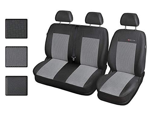 bester Test von peugeot expert kombi Calpend Sitzbezug Transporter Auto 1 + 2 Sitzbezug Frontschutzbezug mit Airbag-System -…