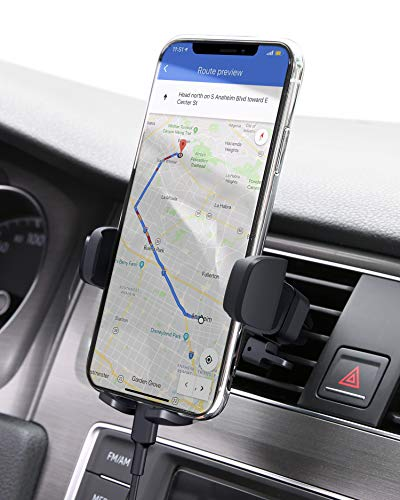 AUKEY Car Phone Mount Air Vent Phone Holder for Car OneTouch Compatible with iPhone 11 Pro/11/Xs/8/7/6 Galaxy S10/S10/S9/S9 Note 10 and More