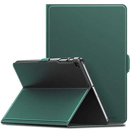 INFILAND Case for Samsung Galaxy Tab A 10.1 2019, Ultra Slim Shell PU Leather Cover Stand Case compatible with Samsung Galaxy Tab A 10.1 2019 (SM-T510/SM-T515) Tablet,Dark Green