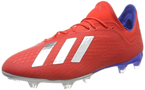 Adidas X 18.2 FG, Botas de fútbol para Hombre, Azul Gris Rojo, 42 2/3 EU