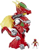 Playskool Heroes Power Rangers Red Ranger & Dragon Thunderzord, 3' Action Figure, 14' Zord, Lights & Sounds, Collectible Toys for Kids Ages 3 & Up