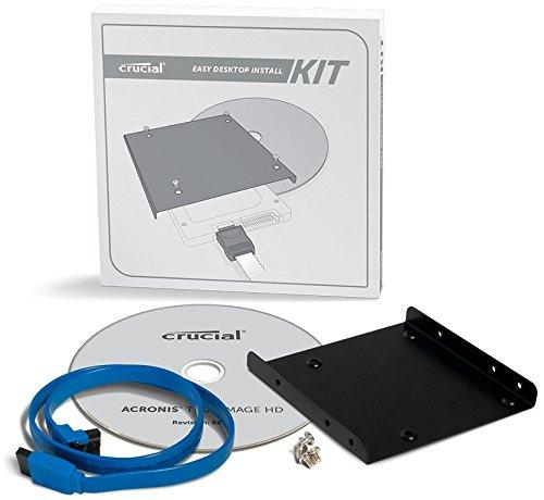 Crucial CTSSDINSTALLAC Desktop Install Kit 2.5' SSD 1 DDR2 400 CTSSDINSTALLAC