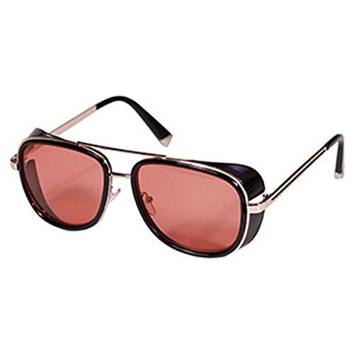 Punk Hollow Metallrahmen Rund Linse Alternative Sonnenbrille UV400 Hochwertig