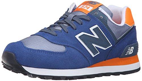 New Balance Wl574cpm-574 Damen Laufschuhe, Mehrfarbig (Navy/Orange 417Navy/Orange 417), 36.5