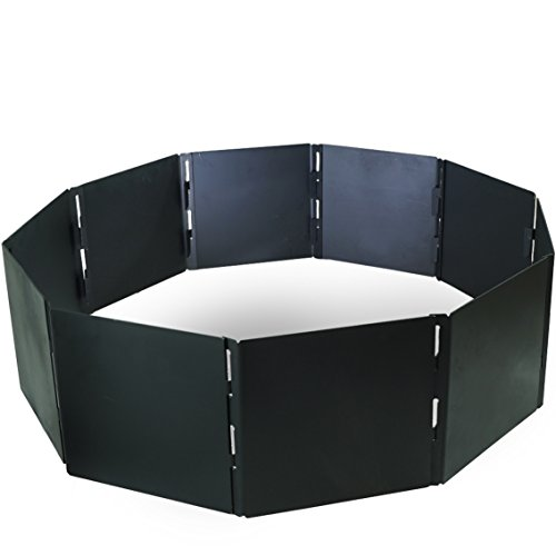 TITAN GREAT OUTDOORS Portable Fire Pit Ring 48' Diameter Heavy Steel for...