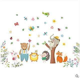 Habitación Infantil De Dibujos Animados Habitación De Bebé Pegatina De Pared De Animales Pequeños Pegatina De Bebé De Jardín De Infantes Linda Autoadhesiva Dibujos animados lindo animalito 125 * 89cm