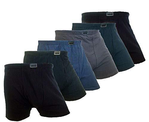 6er Pack Herren Boxershorts Unterwäsche Retroshorts Übergröße Unterhosen Baumwolle 4XL 5XL 6XL 7XL (4XL)