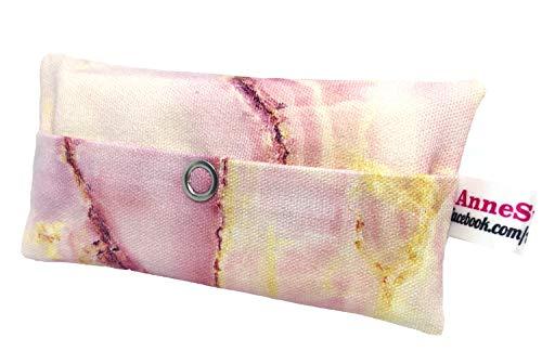 Taschentücher Tasche Marmor rosa Design Adventskalender Befüllung Wichtelgeschenk Mitbringsel Give Away Mitarbeiter Weihnachten Abschied Geschenk Marblestone