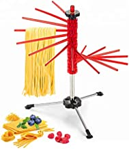 GOZIHA Kitchen Pasta Drying Rack | Make Homemade Fresh Pasta | Spaghetti Dryer Stand with 16 Rods Anti-Slip | Collapsible and Easy To Store Noodle Dry Holder | Easy To Use & Adjust | Non-Toxic | Red