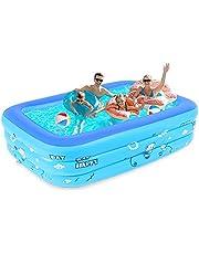 プール 大型 1.8M 家庭用 ファミリープール 大容量 3つ気室 滑り止め 暑く 耐摩擦 耐高温夏の日 屋内 屋外用 暑さ対策 水遊び 日本語説明書付き