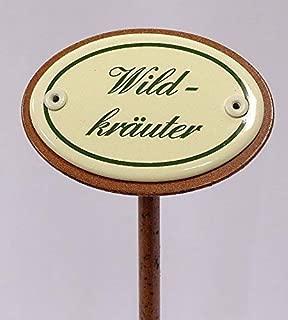 Schnittlauch Erdspieß 30 cm Kräuterschild Kräuterstecker Emaille