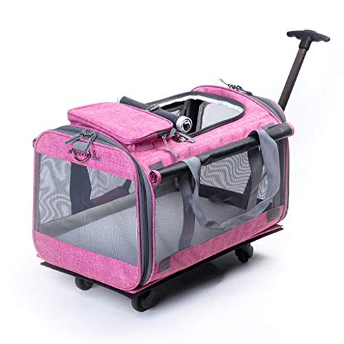 HYYGMT-1 Hond Mobility Harnas, Honden Kinderwagens, Hond rolstoel Vouwen Huisdier Wiel, Huisdier Carrier, Huisdier Kinderwagen Ontworpen voor Honden, Katten, 360 ° Roterende Mute Wheel Design (46 * 25 * 35 Cm), C